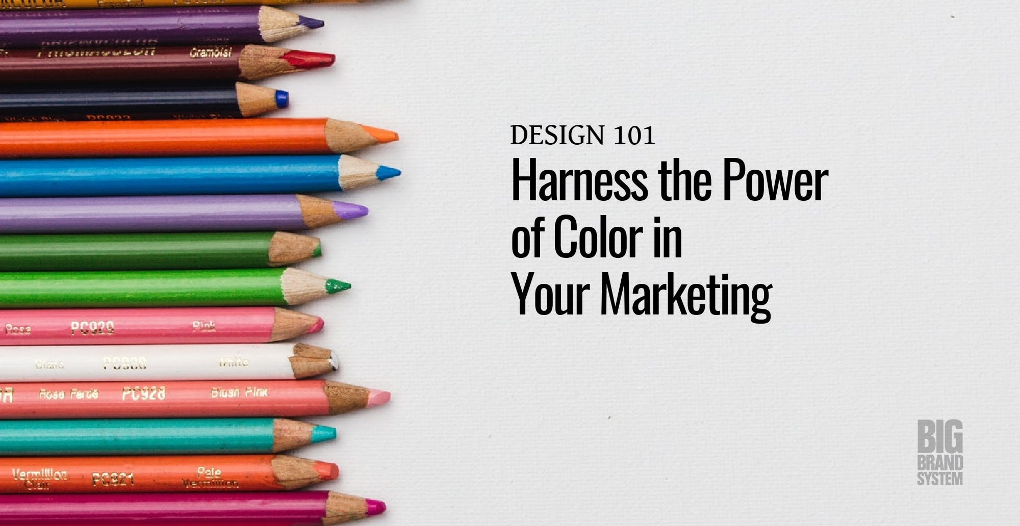 A set of colored pencils