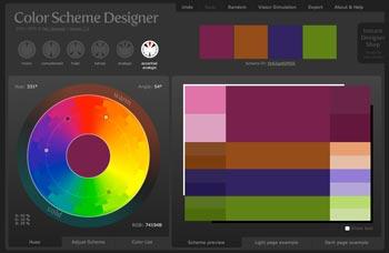 creating a brand palette with Color Scheme Designer