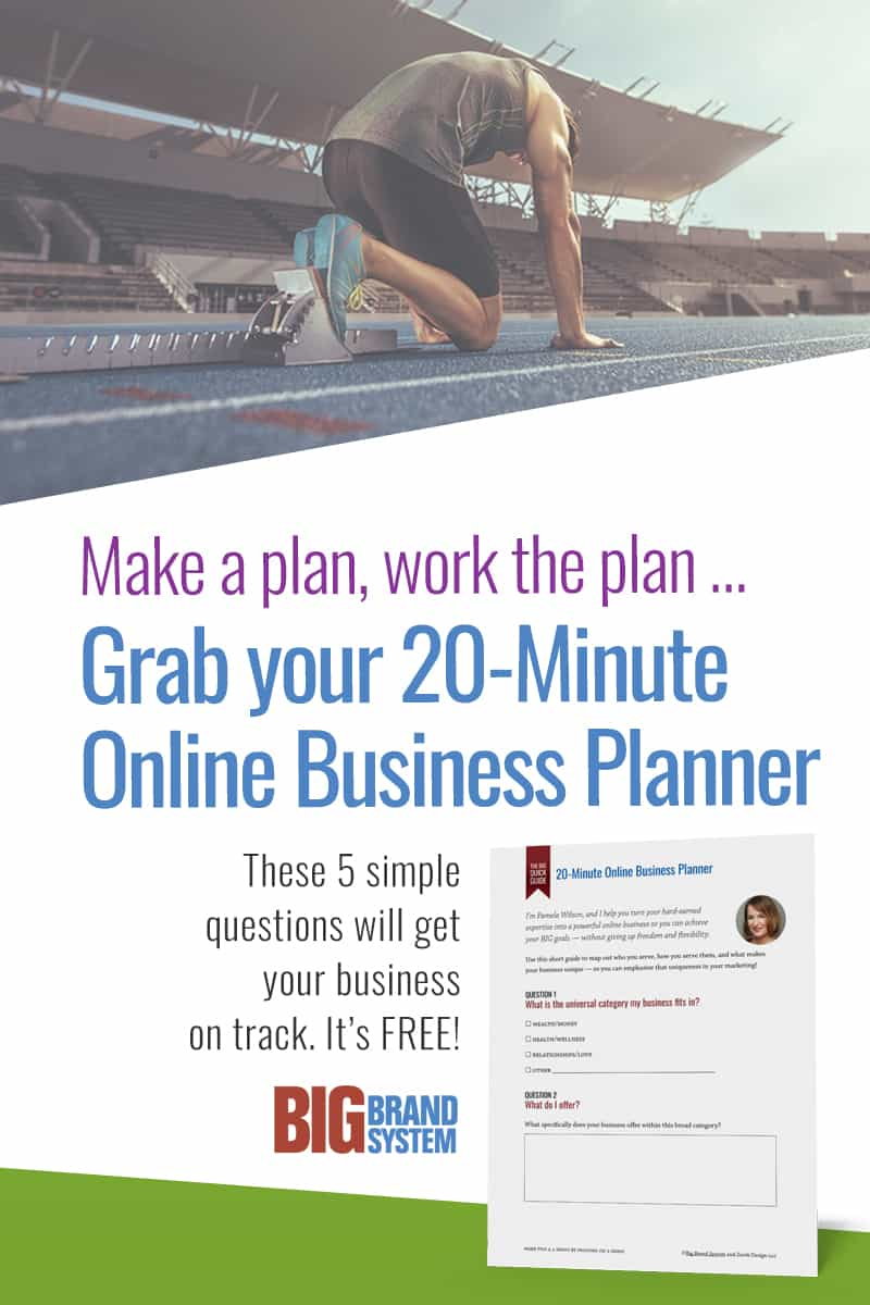Online entrepreneur on starting block, taking first steps toward an online business startup plan