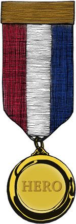 Customer hero medal