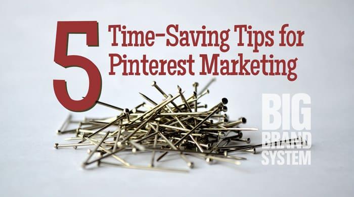 Time saving Pinterest marketing tips