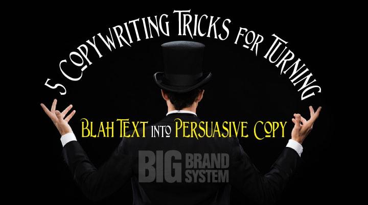 Persuasive copy
