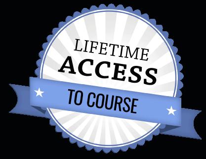 Lifetime access to course symbol